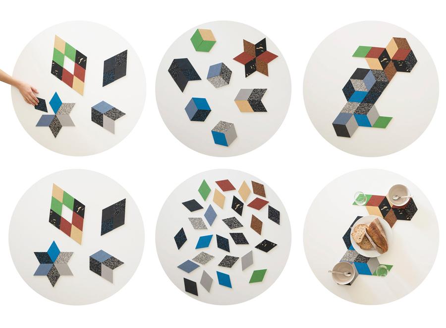 Rhombus Table Trivets | Steller Altelier | Dine X Design
