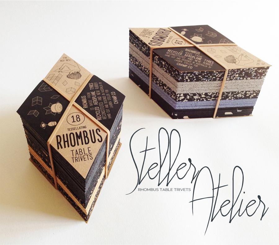 Rhombus Table Trivets | Steller Atelier | Dine X Design