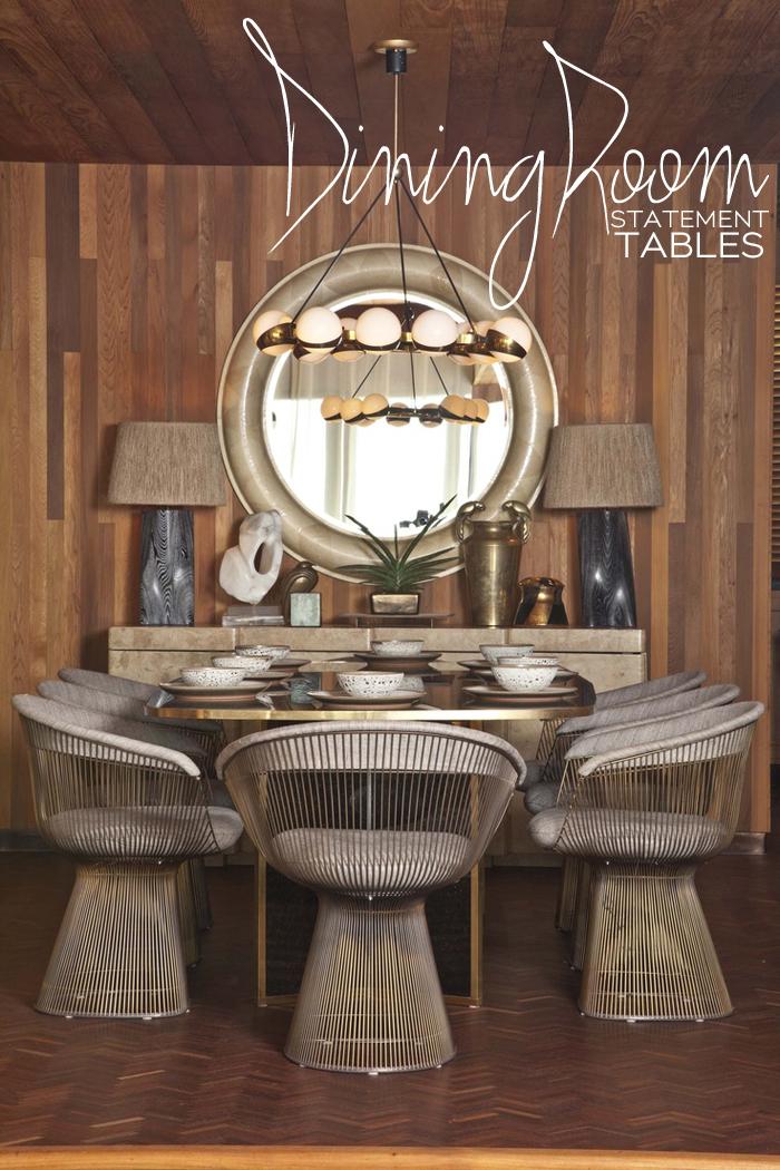Statement Dining Room Tables | Dine X Design