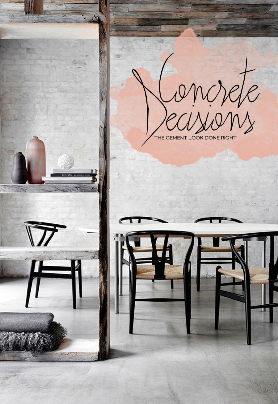 Cement Trends For Kitchen And Dining Room | Dine X Design
