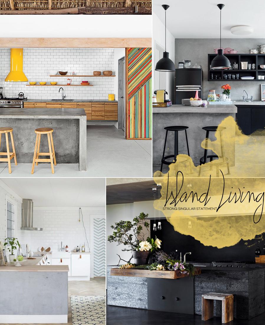 Concrete Kitchen Islands | Dine X Design