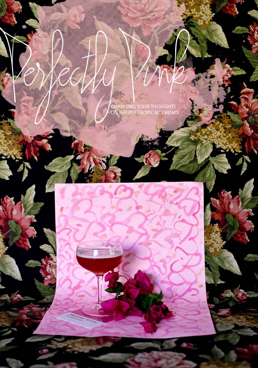 Pink Bourbon Cocktail Recipe Lovers Leap | Dine X Deisgn