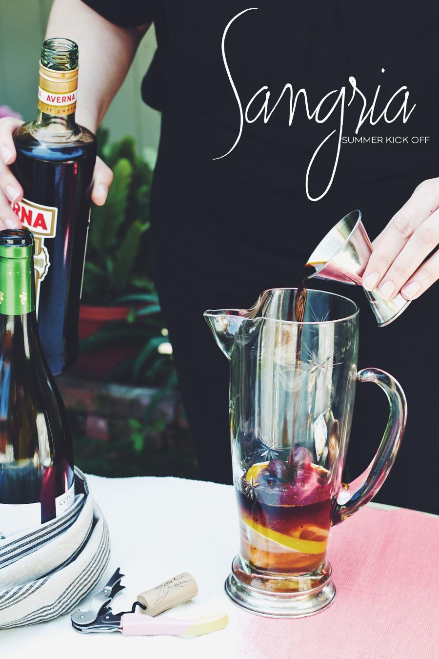 Dine X Design Recipe | Grilled Cherry And Vanilla Summer Sangria