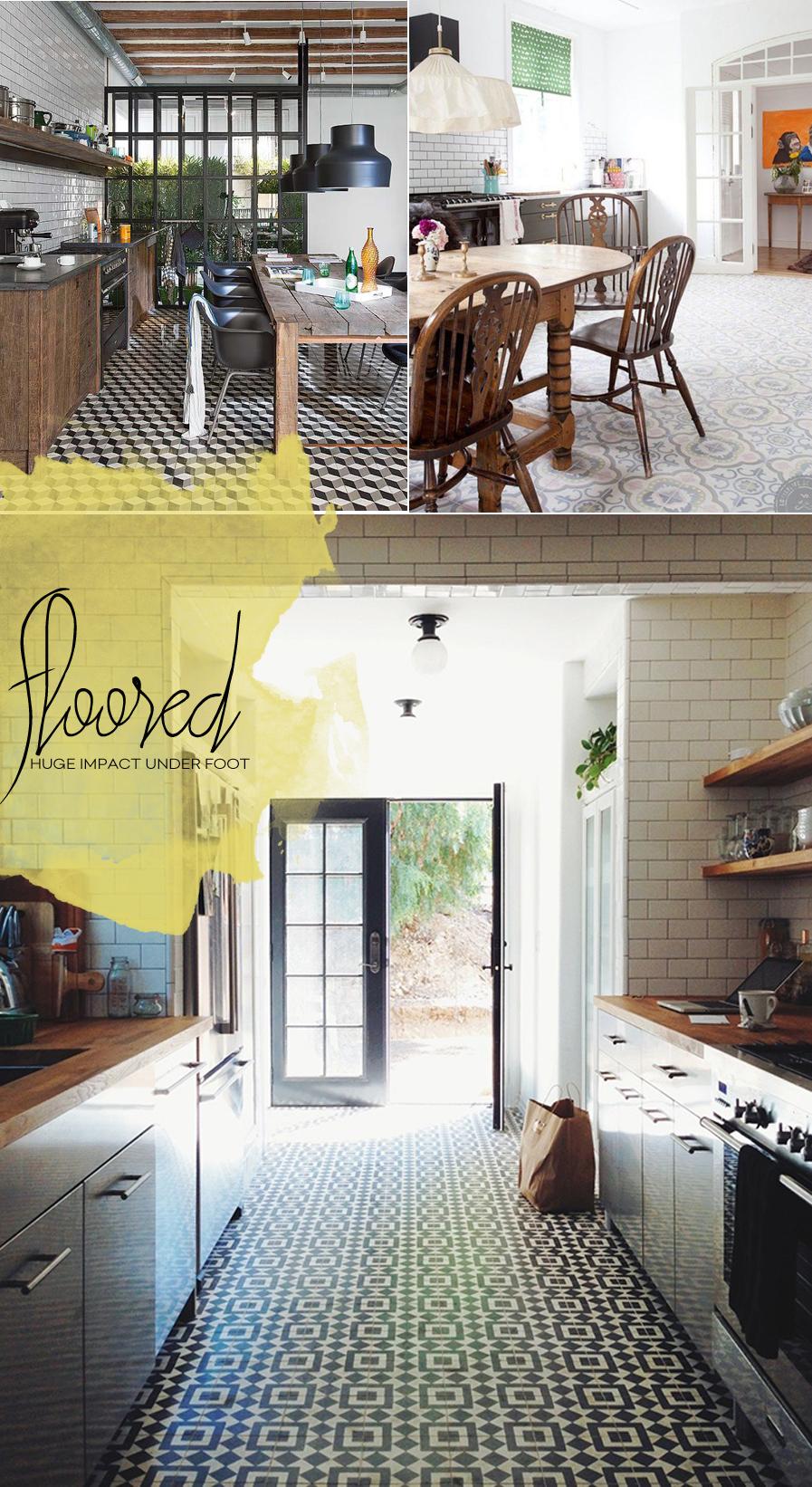 Floor Tile Trends In The Kitchen   Dine X Design