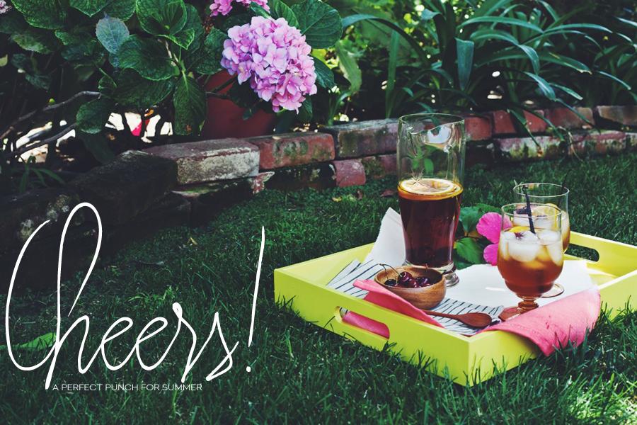 Grilled Cherry And Vanilla Summer Sangria | Dine X Design