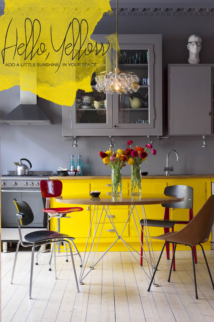 Yellow Kitchen And Dining Room Accents