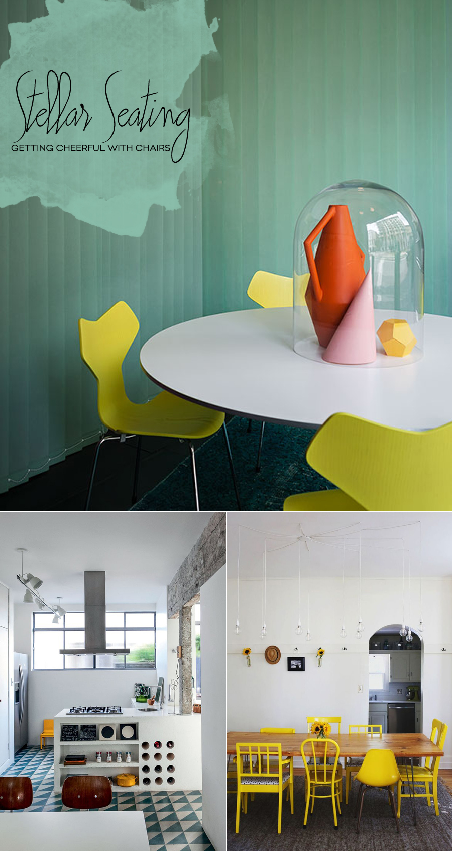 Yellow Dining Room Chairs | Dine X Design
