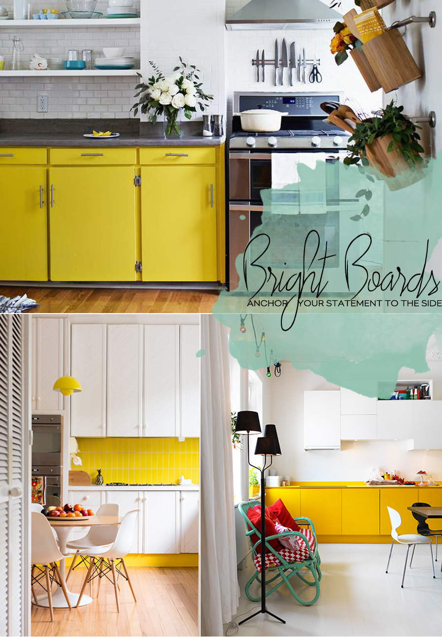 Yellow Kitchen Backsplashes And Cupboards | Dine X Design