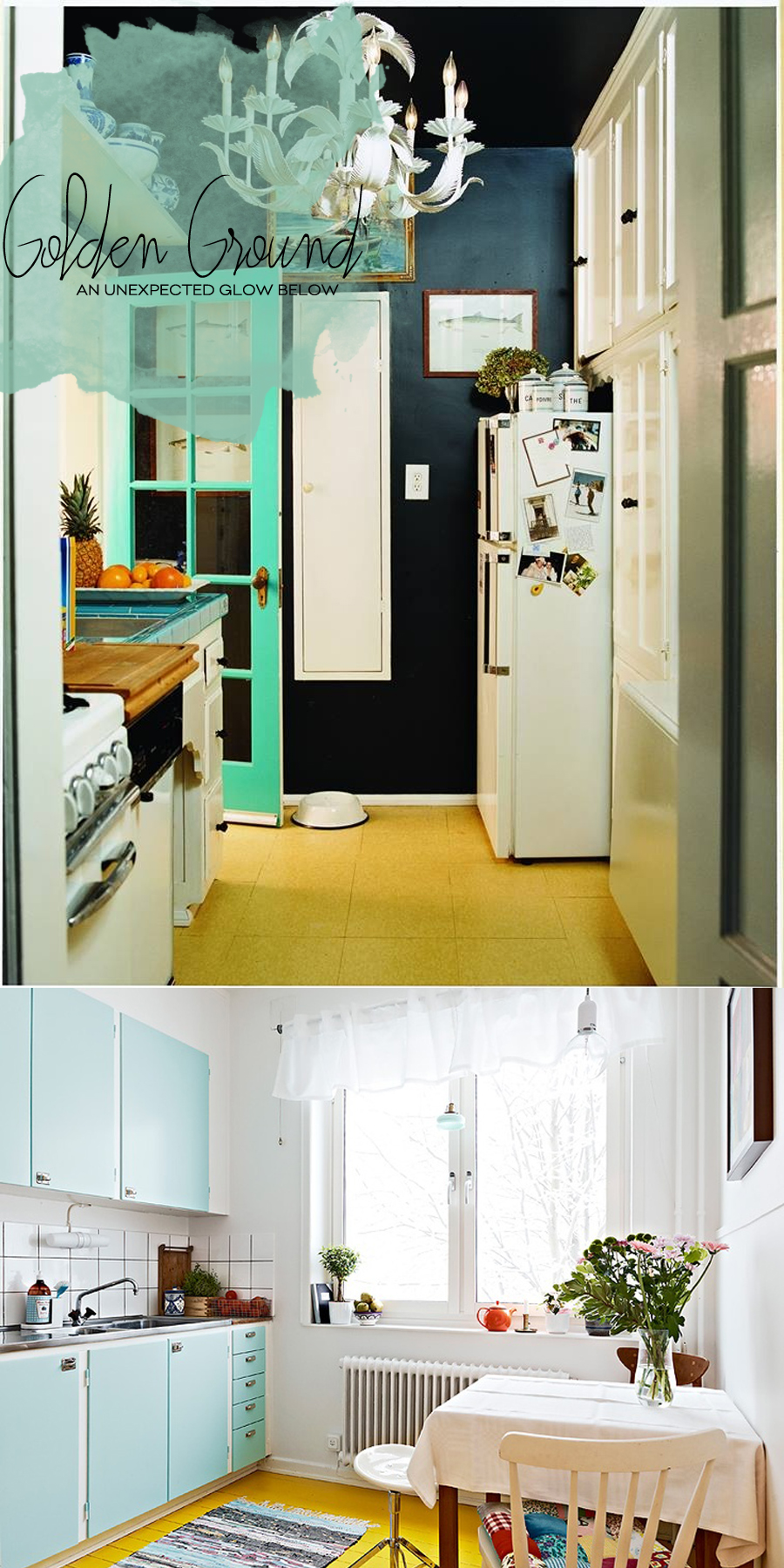 Yellow Kitchen Floors | Dine X Design