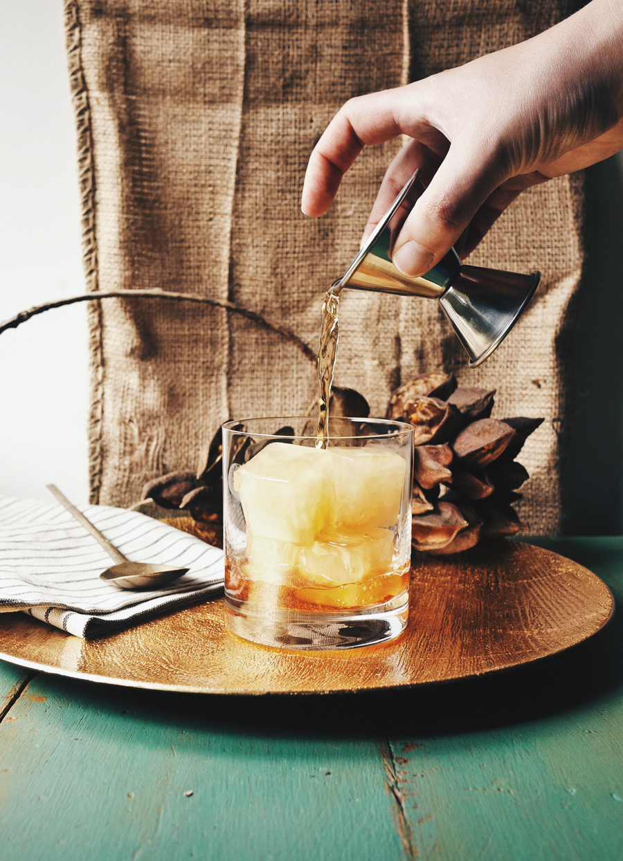 Apple Cider Rum Old Fashioned | Dine X Design