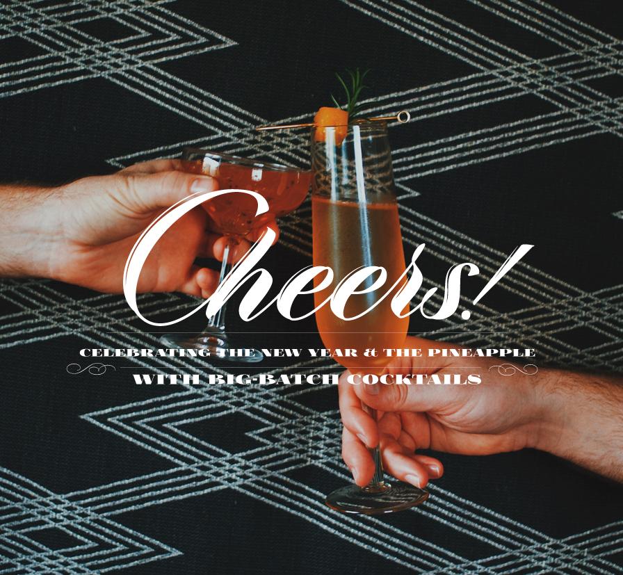 Big Batch New Years Cocktails | Dine X Design