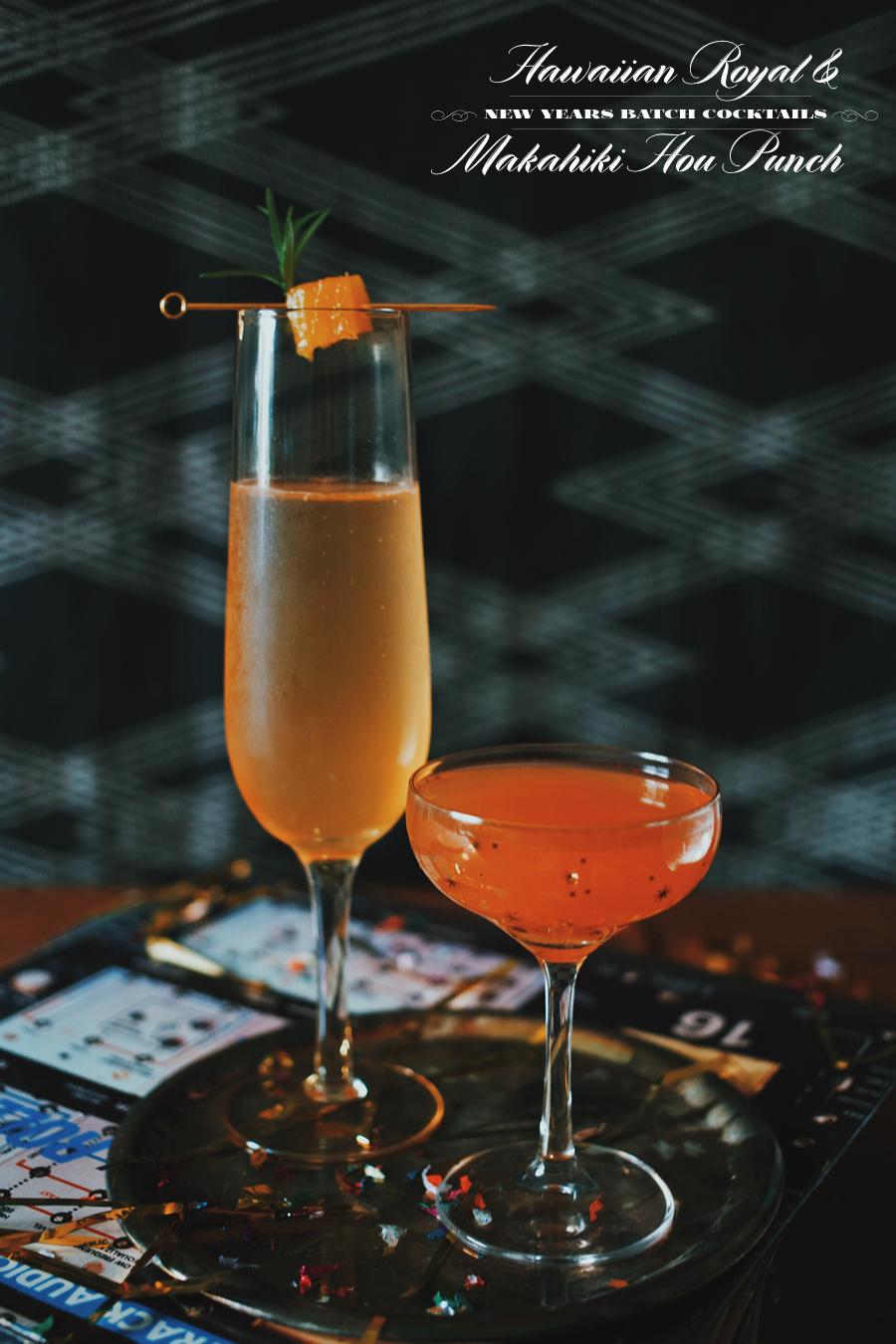 Hawaiian Royal And Makahiki Hou Punch | New Years Cocktails | Dine X Design