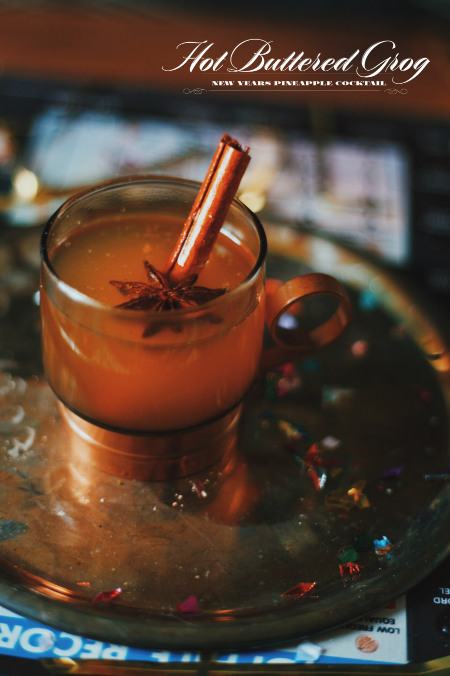 Hot Buttered Grog | New Years Cocktails | Dine X Design