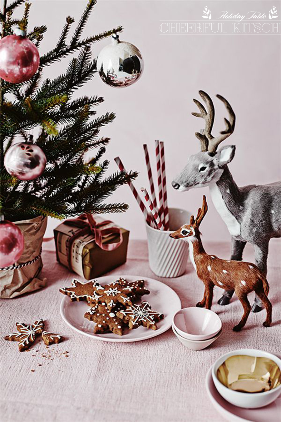 Modern Holiday Table | Cheerful Kitsch | Dine X Design