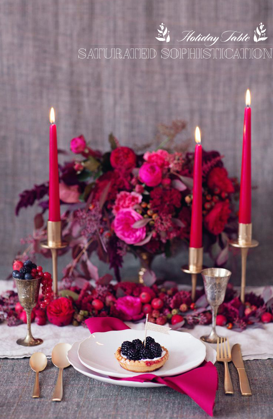 Modern Holiday Table | Saturated Color | Dine X Deisgn