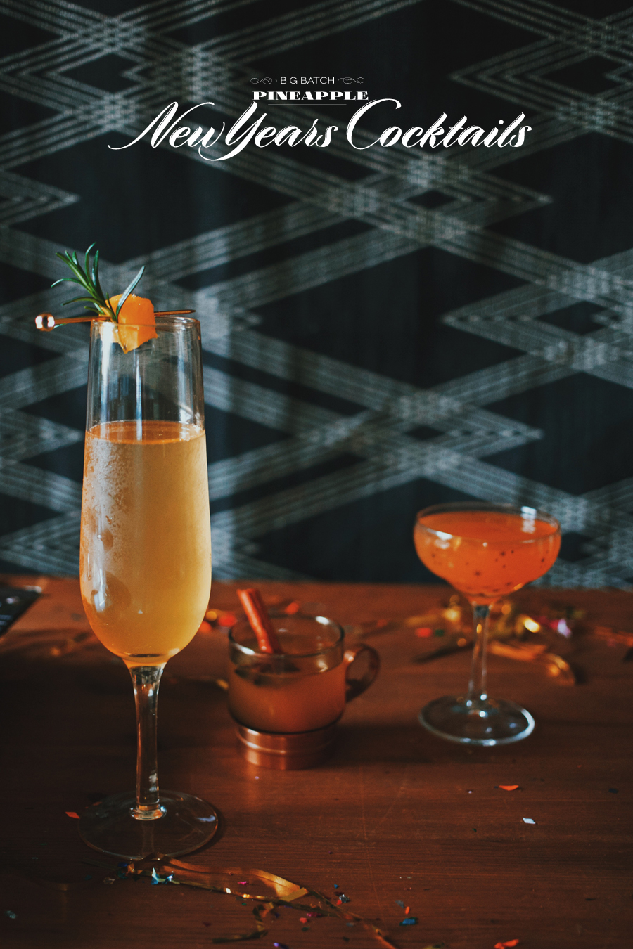 Pineapple Big Batch New Years Cocktails | Dine X Design
