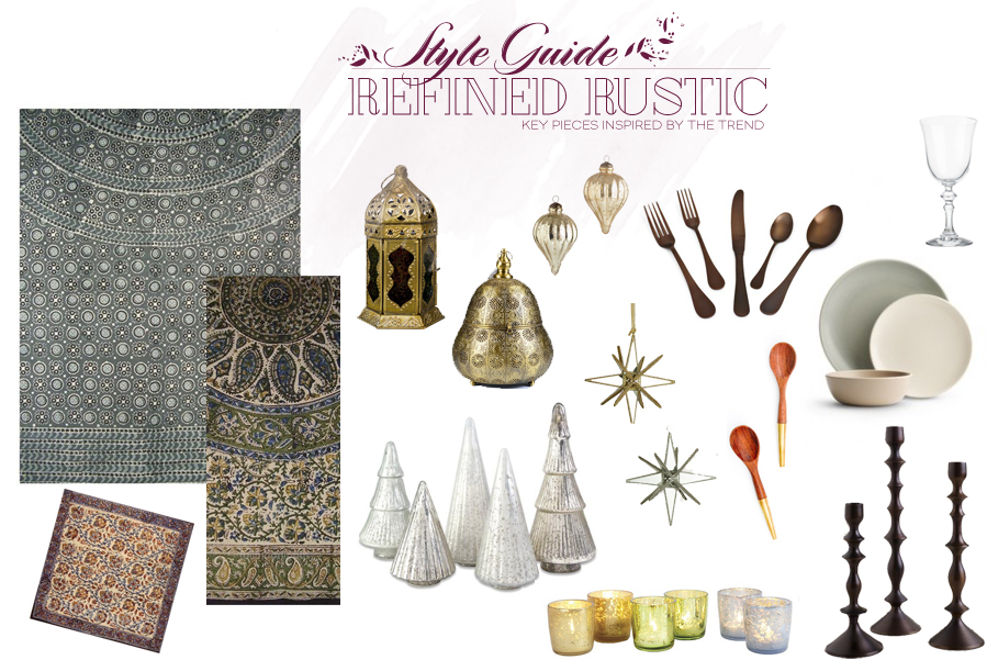 Style Guide | Holiday Modern Table | Refined Rustic