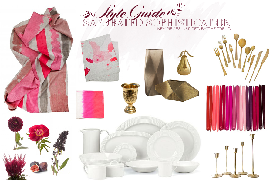 Style Guide | Holiday Modern Table | Saturated Sophistication