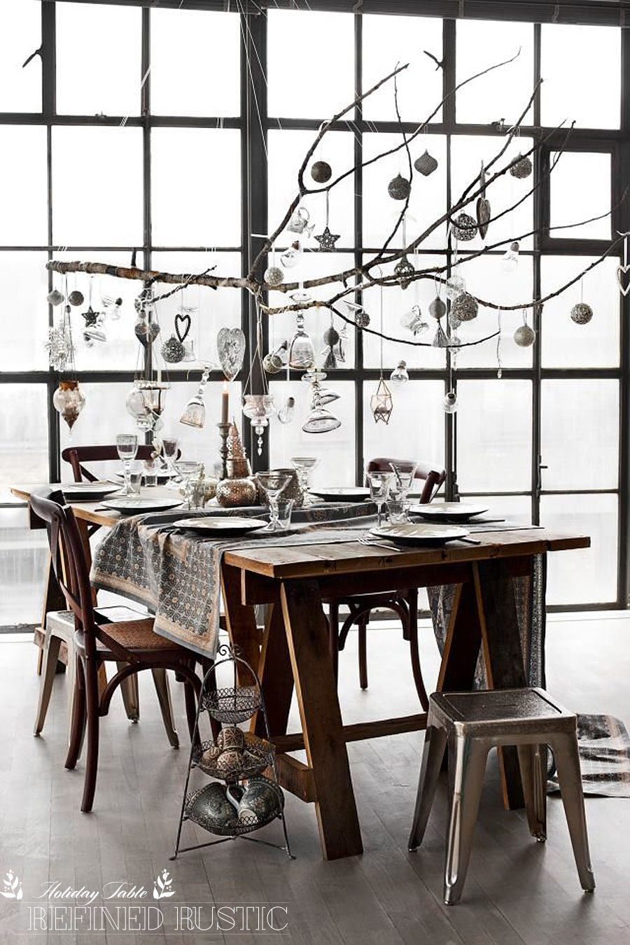 Three Modern Holiday Table Setting Ideas | Refined Rustic | Dine X Design