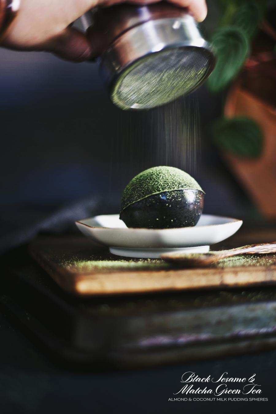 Dine X Design | Dairy Free | Silk Almondmilk | Black Sesame And Matcha Pudding