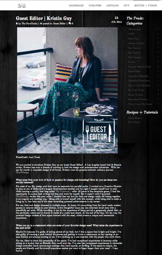 Kristin Guy | faretrade interview
