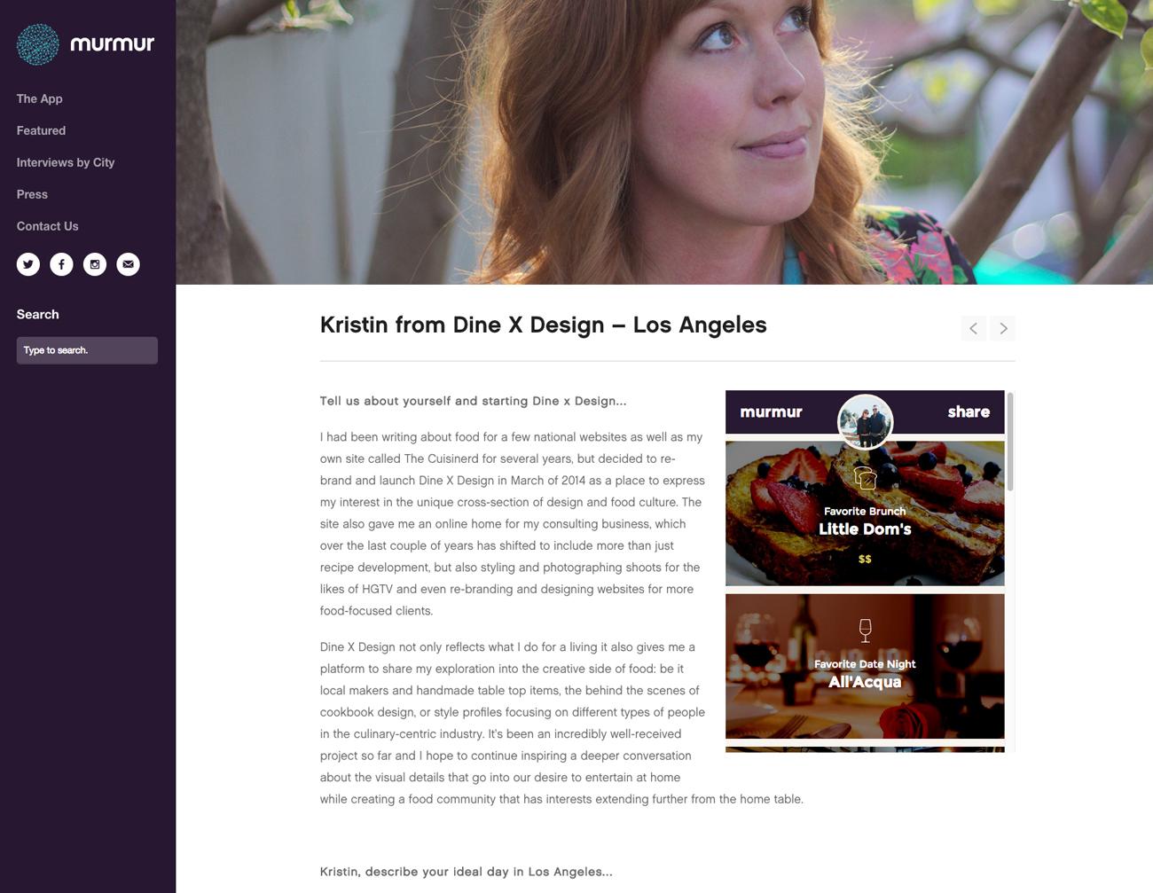 Kristin Guy | my mumur