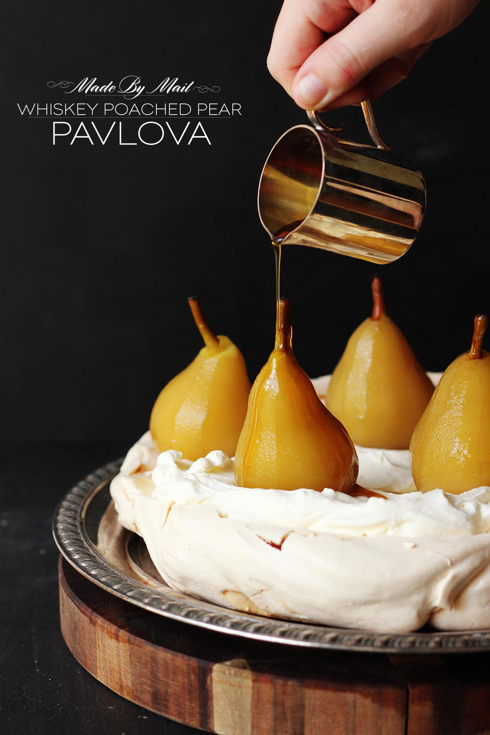 Whiskey Poched Pear Pav | Dine X Design