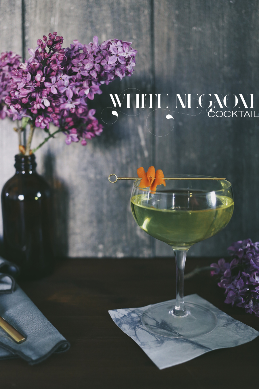 White Negroni Cocktail | Dine X Design