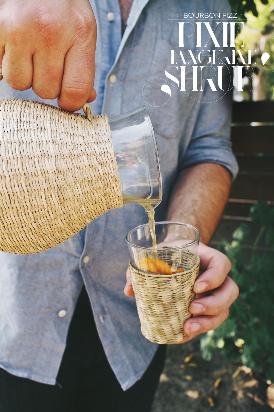 Bourbon Fizz Cocktail With Pixie Tangerine Shrub | Dine X Design