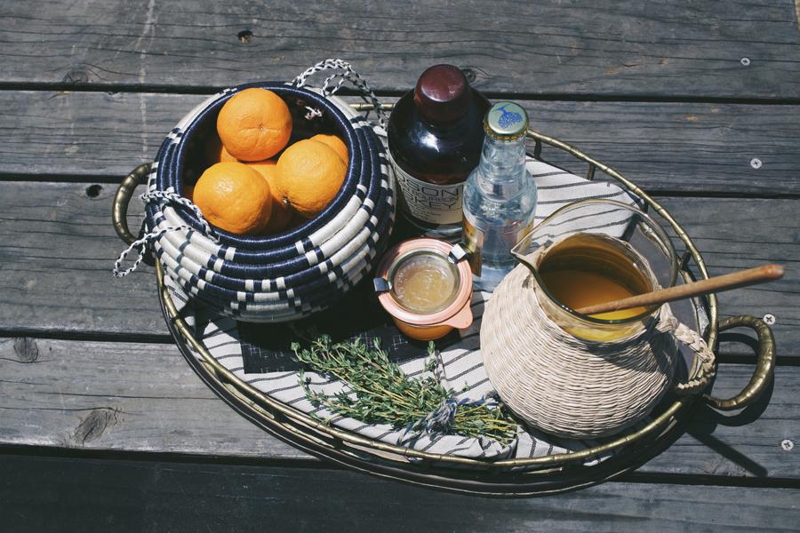Bourbon & Pixie Tangerine Shrub Fizz Cocktail | Dine X Design