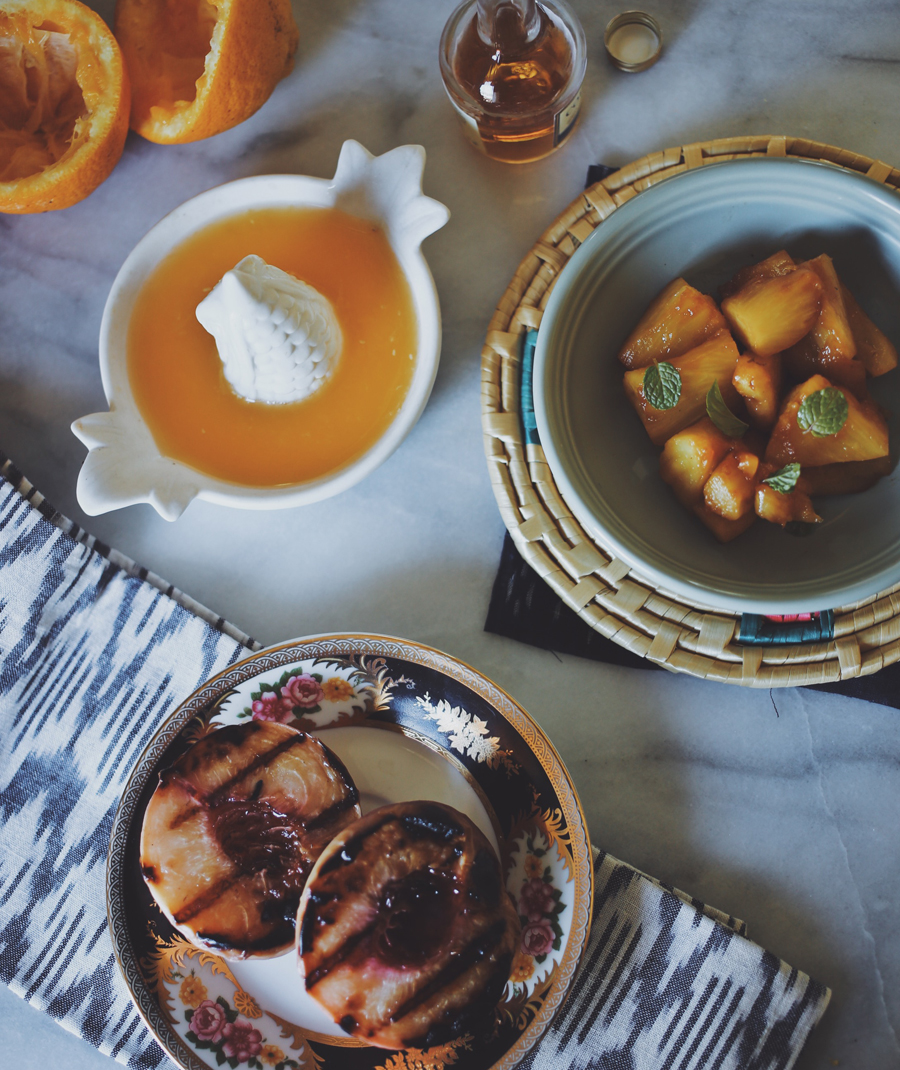 Grilled Peach & Brandy Pineapple Sangria Popsicles | Dine X Design