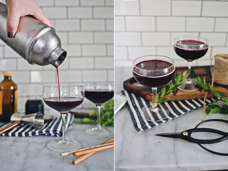 Blueberry Shrub Cocktail Recipe | Dine X Design