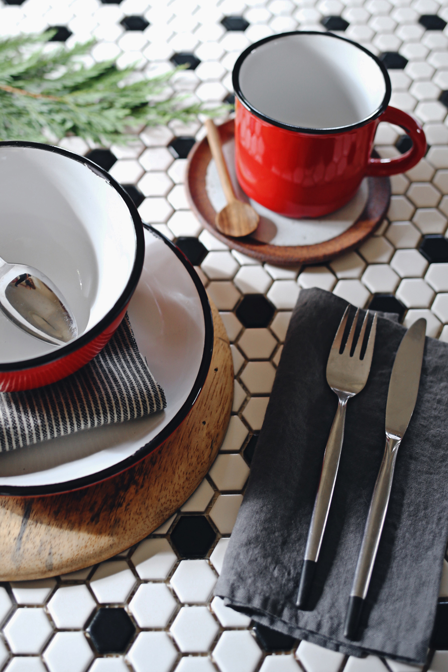 Canvas Home Holiday Table | Red Tinware | Dine X Design