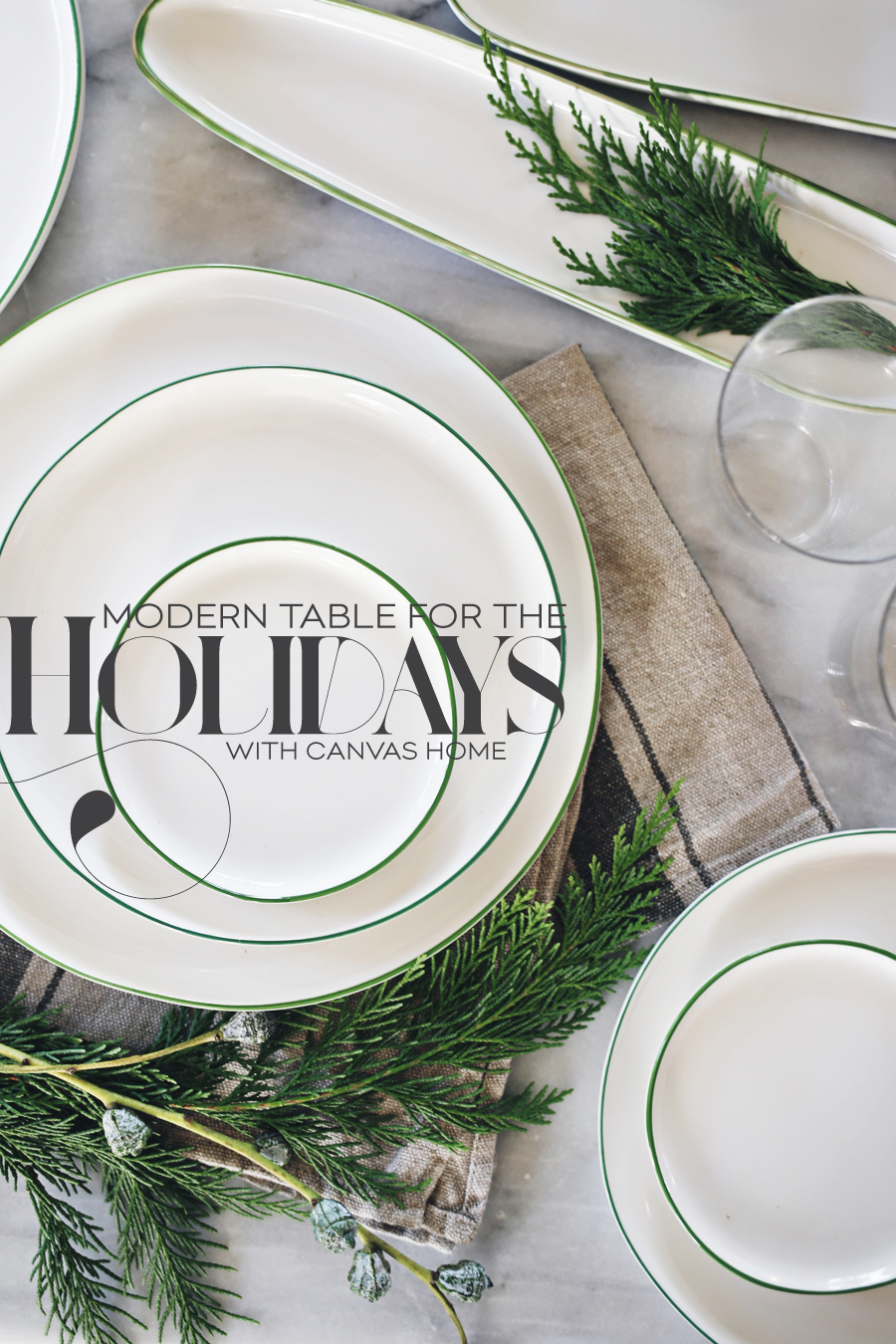 Dine X Design | Modern Holiday Table | Canvas Home