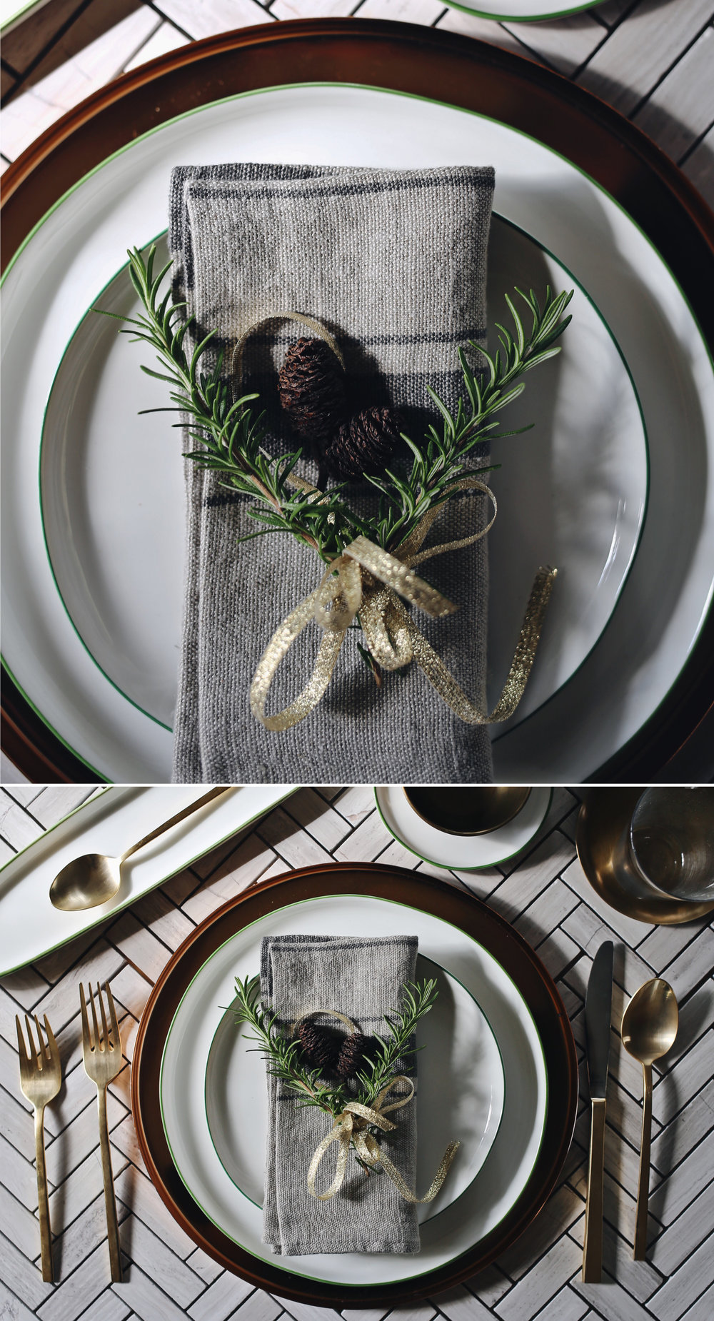 Green Abbesses Setting | Holiday Details Look 2 | Dine X Design