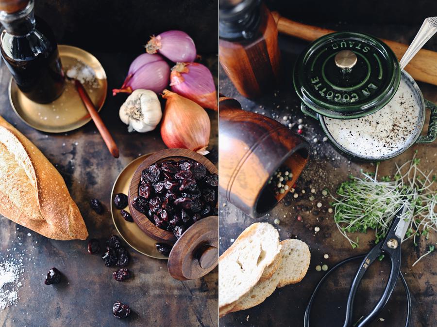 Tart Cherry Crostini | Ingredients | Dine X Design