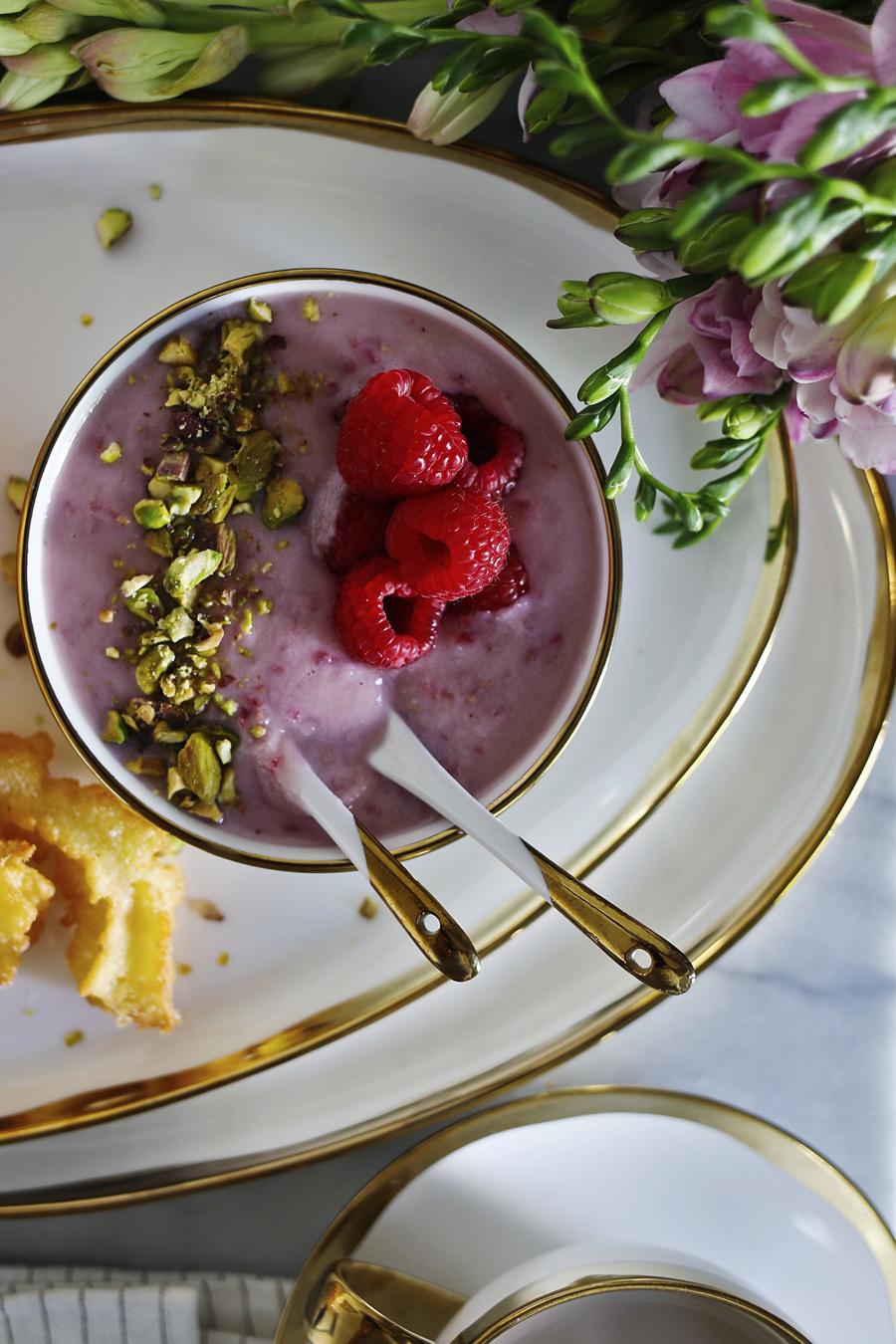 Raspberry White Chocolate Churro Dip | Dine X Design