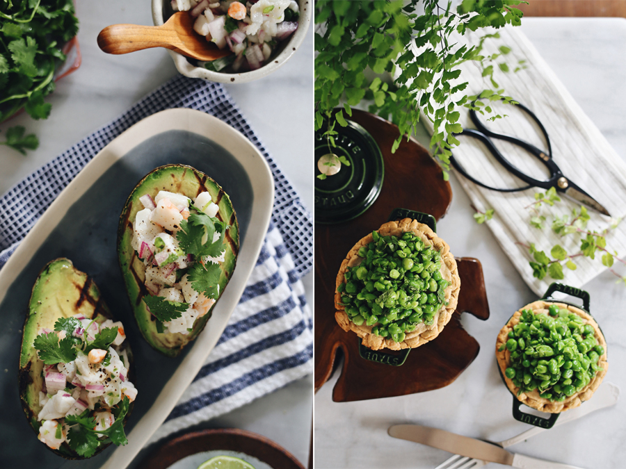Grilled Avocado Ceviche | Lamb Meat Pies | Kristin Guy HGTV | Dine X Design
