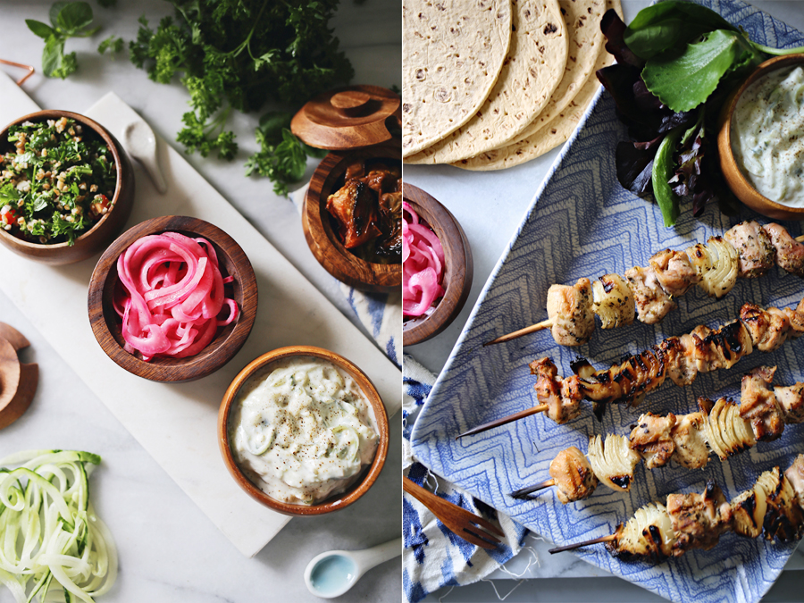 Grilled Chicken Souvlaki Ingedients | Dine X Design