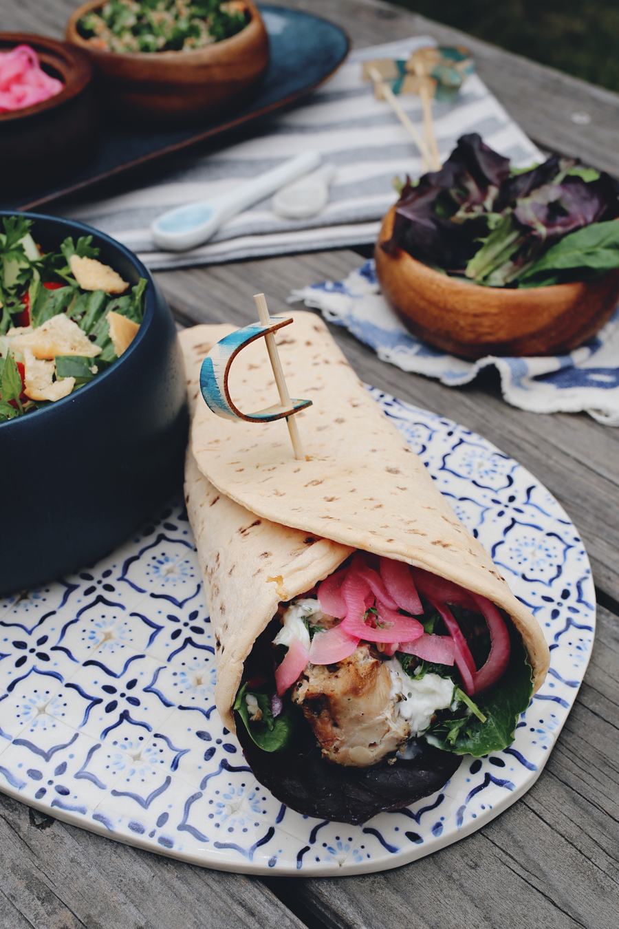 Grilled Chicken Souvlaki | Recipe By Dine X Design