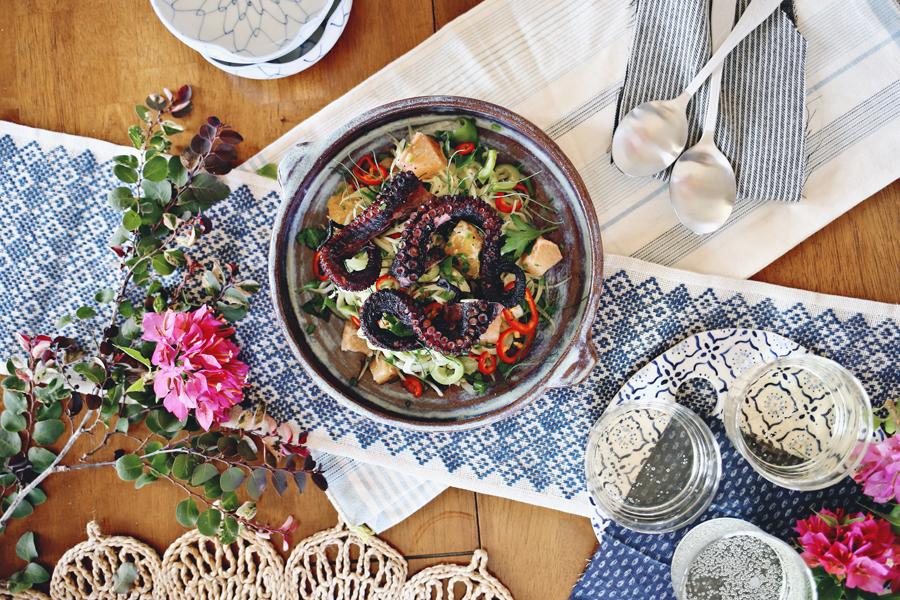 Grilled Octopus Salad Recipe | Dine X Design