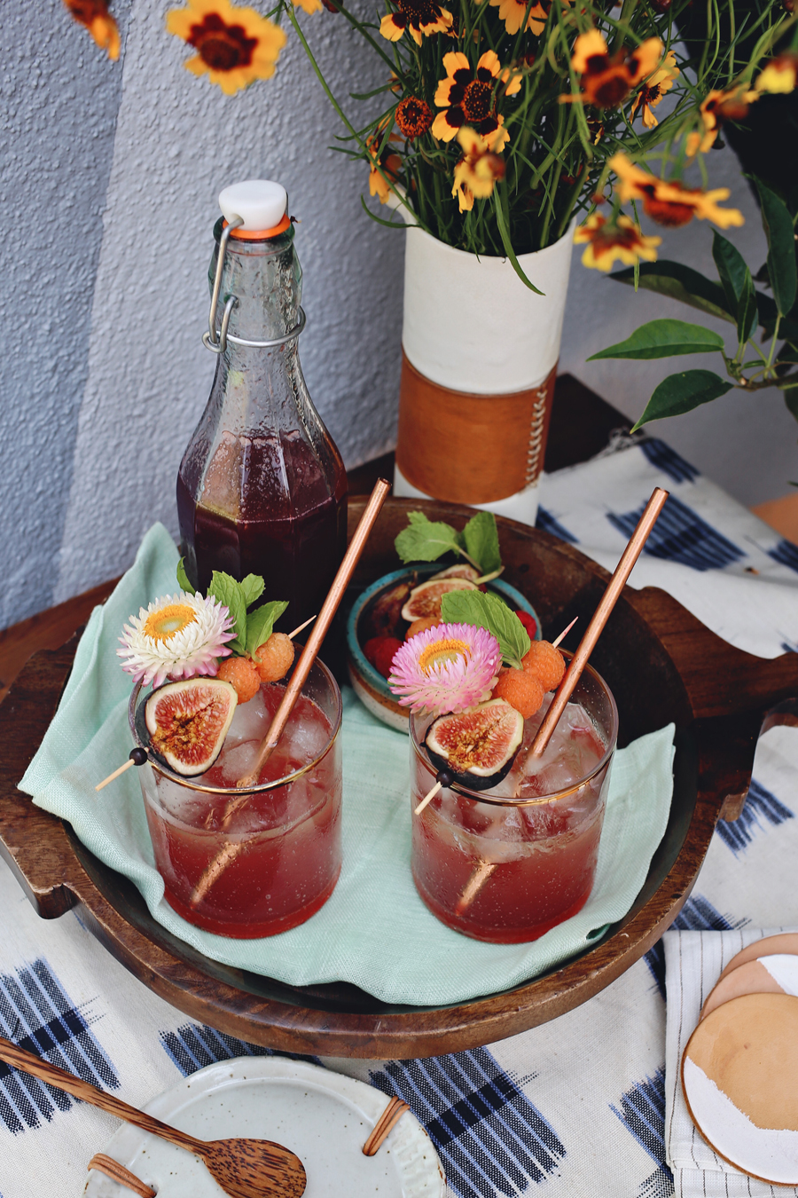 Fig And Raspberry Cocktail Syrup | Dine X Design