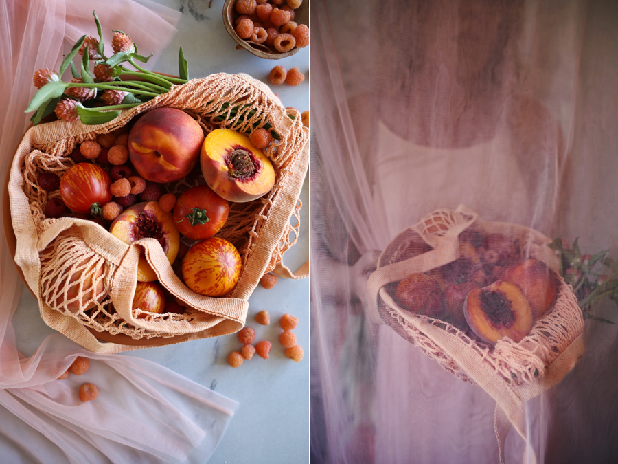 Dine X Design | Pink and Peach Produce Portraits
