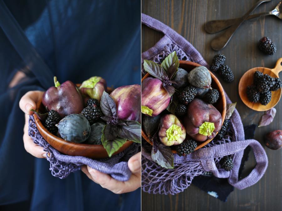 Dine X Design | blue produce portrait