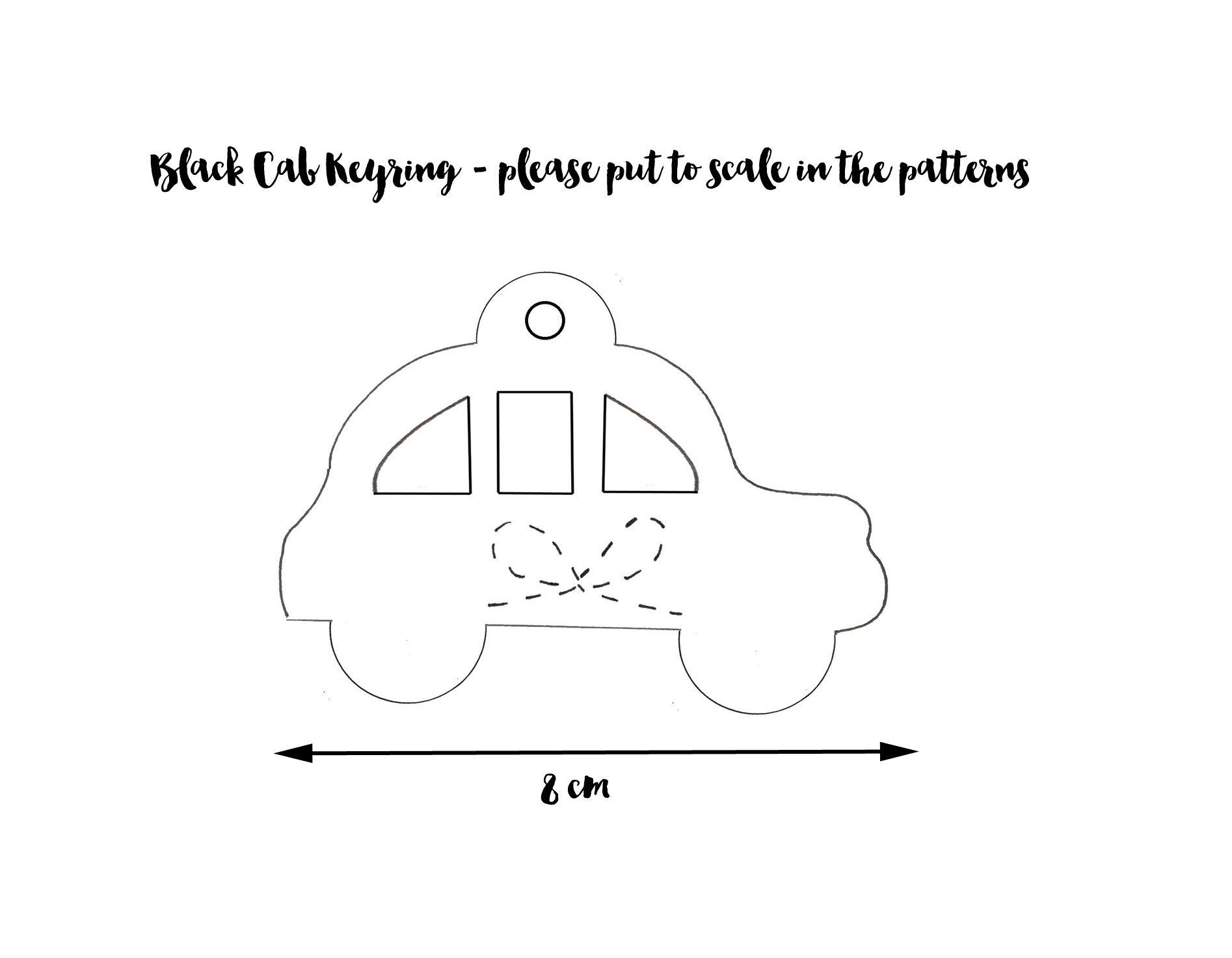 98-107. Black Cab Keyring Pattern