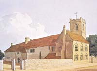 St John's Rectory and the Hospital at the rear - painted by Thomas Fisher c.1820