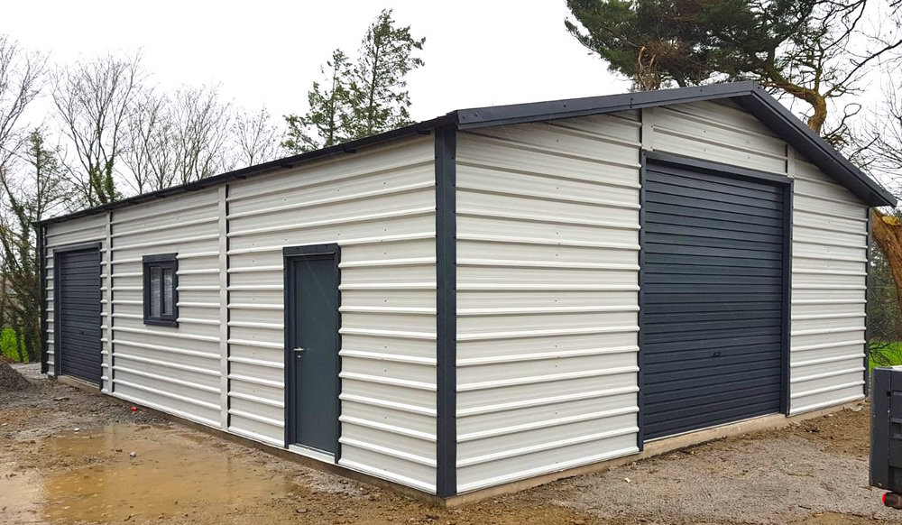 Gutters Included, As Standard - √ As standard, our steel garages and heavy duty garages include Gutters and Down-Pipes.