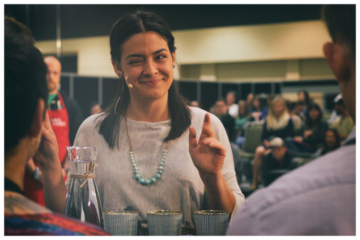 Laila at the 2014 US Coffee Championship, Photo by Sprudge.com