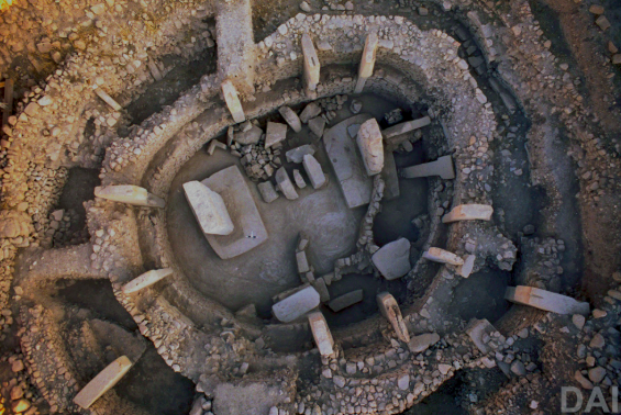 Gobekli Tepi in Turkey , site of over ten circular structures , thought to have been built by hunter gatherers perhaps for ceremonial use, over 7000 years before Stonehenge. Some of the oldest known circular structures.