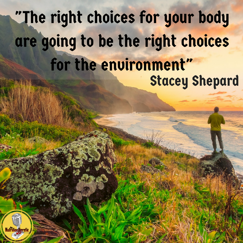 """The right choices for your body are going to be the right choices for the environment"" Stacey Shepard on The Nutrition Heretic Podcast"